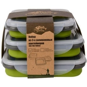 Набор из 3х контейнеров силиконовых Tramp -olive
