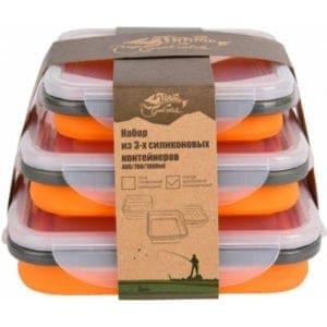 Набор из 3х контейнеров силиконовых Tramp-orange