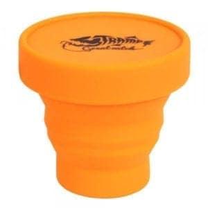 Стакан складной силиконовый с крышкой Tramp TRC-083-orange