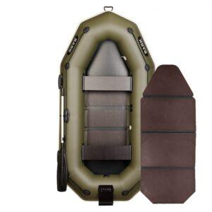 Лодка Bark B-270NP двухместная гребная стационарные сидениья привальный брус 4 ручки навесной транец слань-книжка комплект
