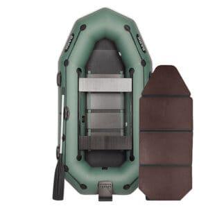 Лодка Bark В-270NPD двухместная гребная привальный брус 4 ручки двигающиеся сидения навесной транец слань-книжка комплект