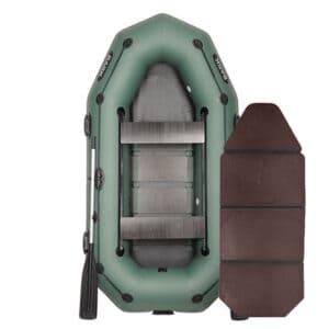 Лодка Bark В-270PD двухместная гребная привальный брус 4 ручки двигающиеся сиденья слань-книжка комплект